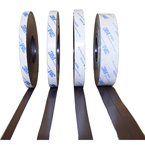 KOMBI Typ A + B - 10mm x Meterware! Magnetband mit 3M Kleber Kleberücken selbstklebend + GRATIS HERZ - Magnetklebeband Typ A | Typ B | Kombi Typ A + Typ B