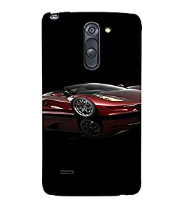 PrintVisa Sports Car Design 3D Hard Polycarbonate Designer Back Case Cover for LG G3 STYLUS