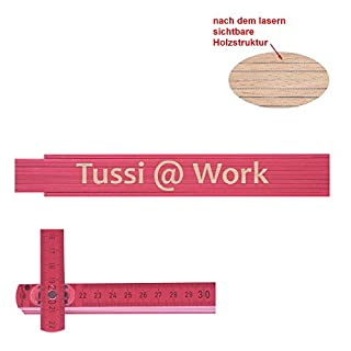Zollstock pink Tussi at work