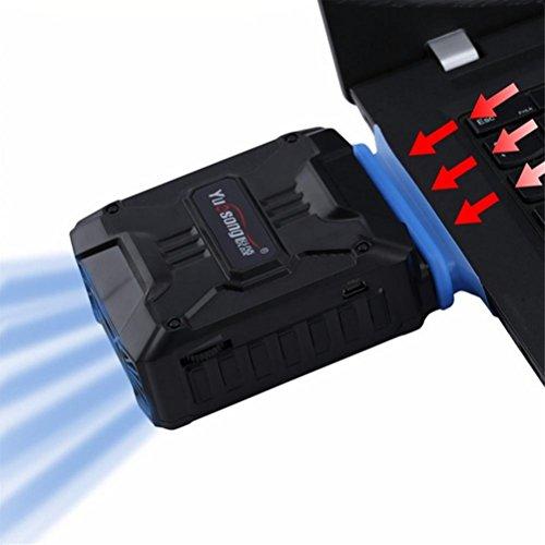 ZDDT YUESONG,Beste Laptop-Kühler,Luftzufuhr PC-Kühler mit Vakuum-Lüfter,USB Powered,Geschwindigkeit einstellbar,ruhiger Betrieb,Ultra-Portable Radiatoren -