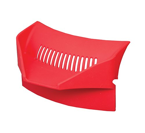 """Tablecraft HPS4R Silicone Pour Spout/Strainer, 4.25"""" x 3.25"""" x 2.5"""", Red"""