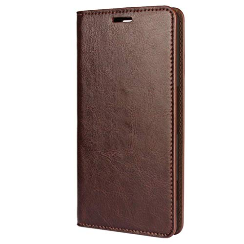 bdeals Flip Elegant Premium Echt Ledertasche Handyhülle Brieftasche Schutzhülle für Microsoft Lumia 950 XL Hülle ,Kaffee Braun