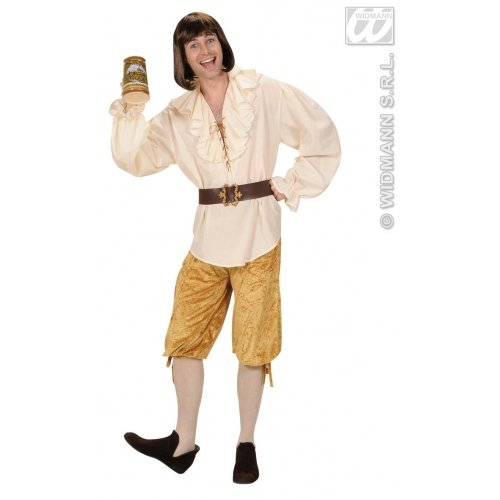 Kniebundhose Beige Kniehose Mittelalter Pirat See Musketier Barock - Herren Renaissance Fancy Dress Kostüm