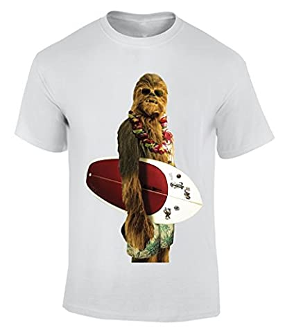 Chewbacca From Star Wars Surfing - Large T-Shirt Herren