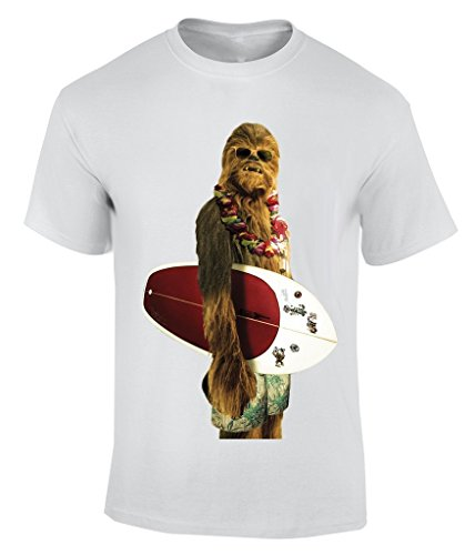 Wars Surfing - Large T-Shirt Herren (Chewbacca Beanie)