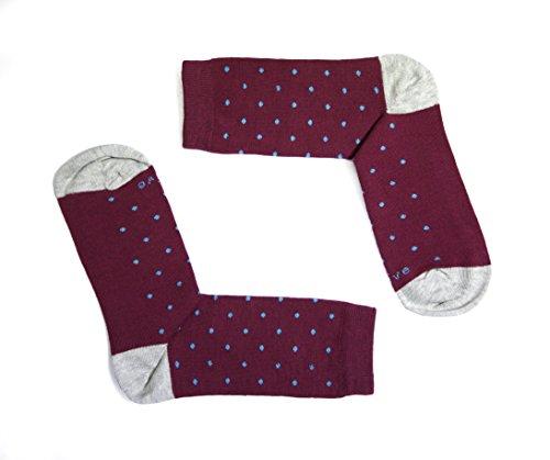 Naive SMART14C Calcetines cortos, Rojo (Burdeos 14), 43/46 (Tamaño del fabricante:G) para Hombre