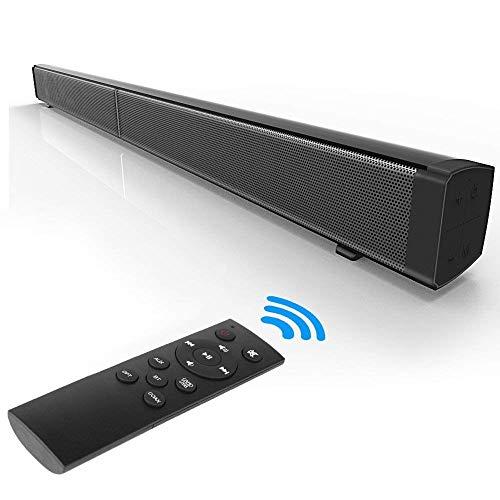 L&Z TV Soundbar Bluetooth Wired/Wireless Soundbar für TV 40 Watt HiFi Surround Deep Bass 2.0 Kanal Sound Bar für 50 Zoll TV Home Theater