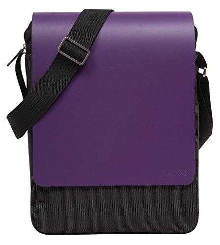 oxmox Pure Umhängetasche S1 Leder 27 cm Laptopfach 23 purple