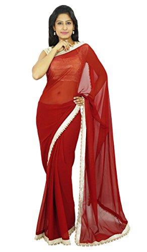 Indische traditionelle Partei-Abnutzungs-Sari Designer Georgette Hochzeit Saree Designer-chiffon Sarees