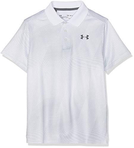 Under Armour Kinder Performance Novelty Poloshirt, Weiß, YSM (Under Armour Kind)