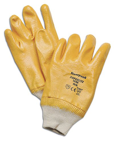 Honeywell T4700P/8M Superlite Plus, Gants Enduction Nitrile Paume pour Manutention Lourde Pièces Abrasives en Milieu Humide ou Huileux, EN 388 3111 - Taille 8M (Pack de 12 paires)