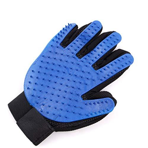 WEIWEITOE Pet Grooming Glove Haarentfernungshandschuhe Haarhandschuh Deshedding Magic Glove Deshedding Shampoo Grooming Glove Blau, Blau, -