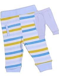 BabyPrem Bebé 2 Piezas Leggings Pantalones Ropa Rayas Algodón Niños 0-6 Meses