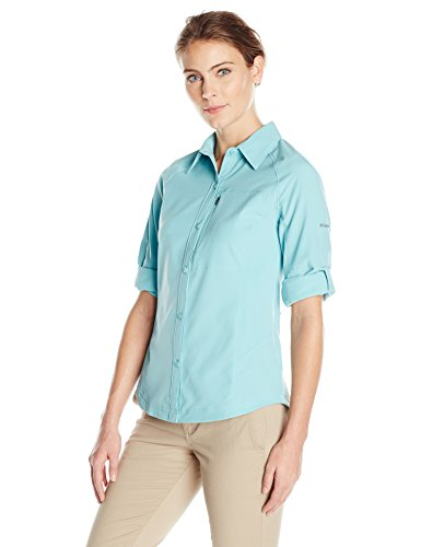 Columbia Damen Silver Ridge Long Sleeve Shirt xl Iceberg (Damen T-shirt Iceberg)