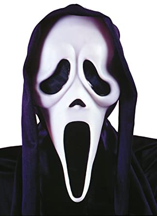 Scream 4 Ghost Face Mask With Shroud - Adult Accessory: Amazon.co ...