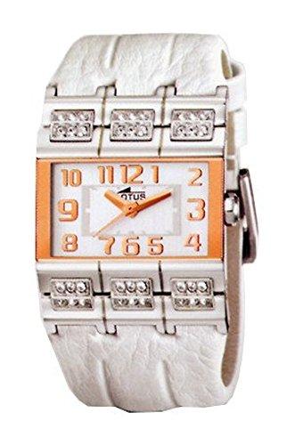 Reloj Lotus señora piel esfera blanca 33×23 mm. W.R. 3 atm