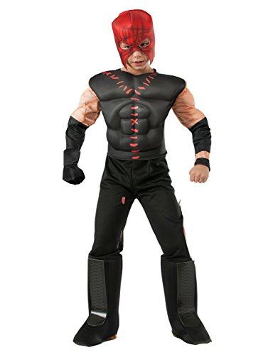 Kostüme Kane Wwe (Kane Deluxe WWE Kinder Kostüm-Set, Medium, Alter 5-7 4'5.08 cm, Höhe - 4'15.24)
