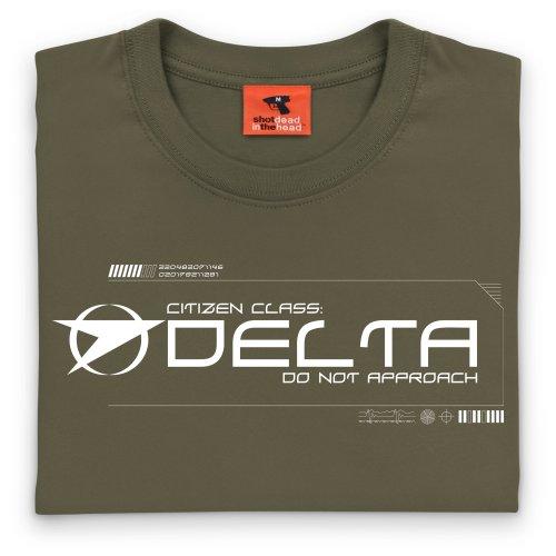 Official Blake's 7 T-Shirt - Delta, Damen Olivgrn