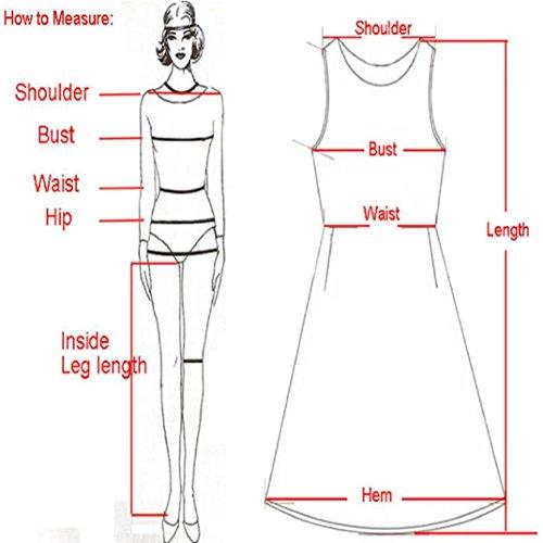 Transer ® Donne senza maniche con stampa floreale del partito di Clubwear Incontri Estate Vestitino Cheongsam sexy (S-M) Couleur