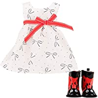 Gotz 3403084 Standing Doll Combo Sweet Ladybug - Size XL - Dolls Clothing / Accessory Set - Suitable For Standing Dolls Size XL (45 - 50 cm)