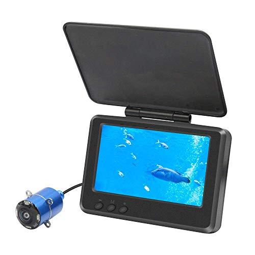 3T6B Détecteur de Poisson, HD 1000 TVL Infrarouge LED Vision Nocturne étanche 180 ° Grand Angle avec Moniteur LCD 4,3 Pouces pour Ice Lake Sea Boat Kayak de Pêche (sans Batterie)