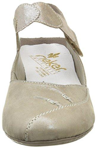 Rieker - 45059 42, Scarpe col tacco Donna Gris (Murmel/Murmel/Oro)