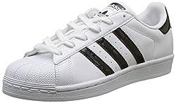 adidas Unisex-Kinder Superstar Gymnastikschuhe, Elfenbein (FTWR White/core Black/FTWR White), 38 EU