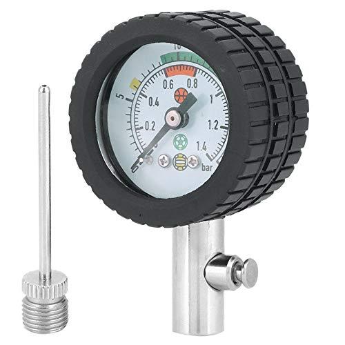 Dilwe Indicador de presión de Aire, Herramienta de indicador de barómetro de presión de Bola de Acero...