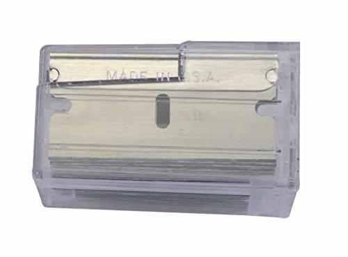 Stanley Professioneller Glasschaber, robuster Halter aus rostfreiem Edelstahl, fixierbare Klinge, 1 Stück, 0-28-500