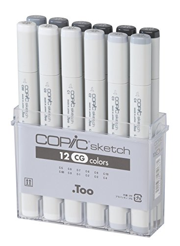 copic-markers-12-piece-sketch-set-cool-gray-misc-japan-import