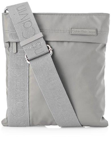 Calvin Klein Jeans Umhängetasche Urban Flat Crossover Grau (Grey Silver) J5EJ500169 Preisvergleich