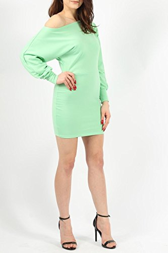 Mesdames Ponte Encolure batwing Robe EUR Taille 36-44 Menthe