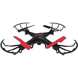 Twodots TDFT0004 dron con cámara - drones con cámara (Negro, Rojo, Hacia atrás, Adelante, Turn left, Turn right, Polímero de litio, AA)