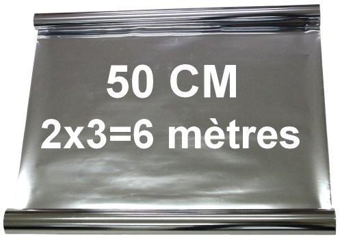 Aerzetix 2 X 3m 6m Pellicola Oscurante Per Vetri Auto Argento 50cm