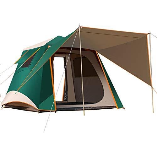 TonXiory Ca. 3-4 Person automatische Geschwindigkeit öffnen Camping Zelt,Wasserdichte automatische popup-Outdoor-Sportarten kuppelzelt Camping Sonne unterstände-grün 245x225x185cm(96x89x73inch)