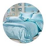 Just Contempo Housse de Couette en Satin de Soie pour lit King Size et Double Moderne RU Family(150cmx215cm) Aquablue Quilt Cover