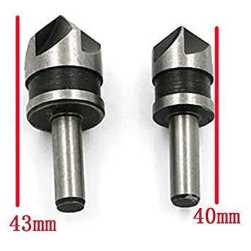 2 Stücke 5 Flöte Schnellarbeitsstahl Industrielle Senker Bohrer Set Zähler Sink Edge Fase Cutter 6 Mm Schaft Qstexpress -