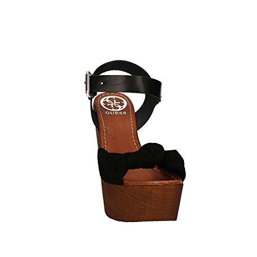 Guess FLBTT2 SUE01 Sandalo zeppa Donna Nero