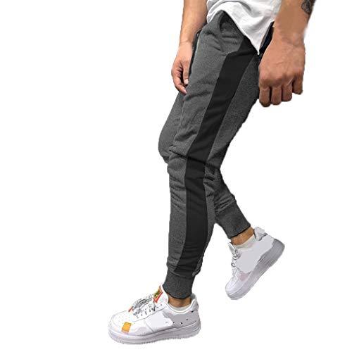New York Tweed-jacke (KaloryWee Jogginganzug Trainingsanzüge Freizeit Sports Hosen Herren Einfarbig Streifen Einfach Mode Junge Mann Sommer Atmungsaktiv Hose)