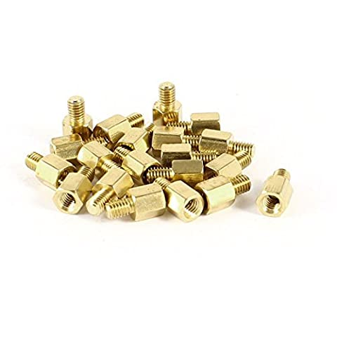 Water & Wood 20 Pcs PC PCB Motherboard Brass Standoff