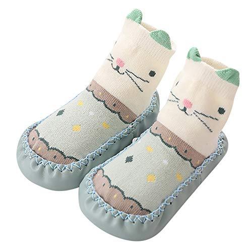 Mitlfuny Unisex Babyschuhe Mädchen Jungen Anti-Slip Socken Slipper Stiefel,Baby Mädchen Socken Baumwolle Kinder Boden Socken Rutschfeste Baby Schritt Socken -