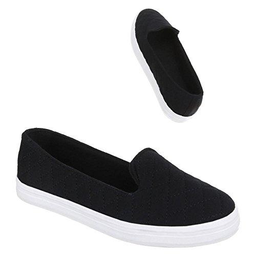 Damen Schuhe, 55-31, HALBSCHUHE SLIPPER Schwarz