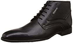 Alberto Torresi Mens Islay Black Leather Boots - 8 UK/India (42 EU)