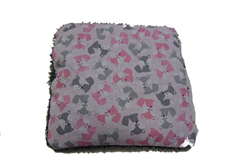 Pinidi Baby Wärmekissen für Babys/Traubenkerne/ca. 15x15cm/Füchse grau/rosa