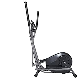 Bicicleta de ejercicios con entrenador elíptico cruzado - Máquina de ejercicios aeróbicos para el ejercicio físico - Control de asiento magnético silencioso+ Sensor de ritmo cardíaco de pulso,a