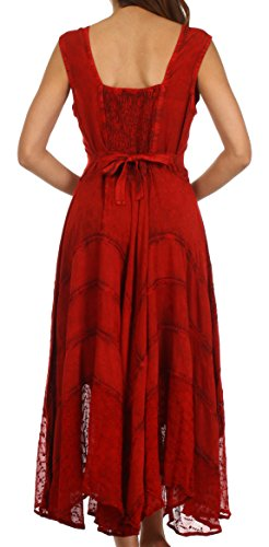 Sakkas Kevina Stein gewascht Kunstseide gesticktes Kleid Cayenne