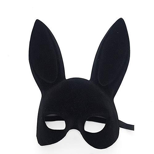 ke Beflockung Kaninchen Ohr Maske Bar KTV Party Ball Maske Hase Maske Spaß Maske ()