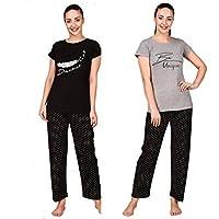 Trendy House Women's Cotton Floral Pyjama Set Pack of 2
