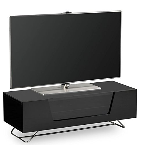 Alphason Chromium Black TV Stand for up to 60 inch TVs Best Price and Cheapest