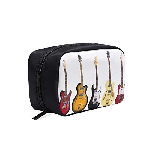 Schöne Gitarre Verschiedene Vektor Gitarren Tragbare Reise Make-Up Kosmetiktaschen Organizer Multifunktions Fall Kleine Kulturbeutel Für Frauen Und Männer Pinsel Fall